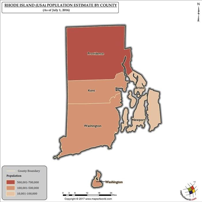 Rhode Island Population Map