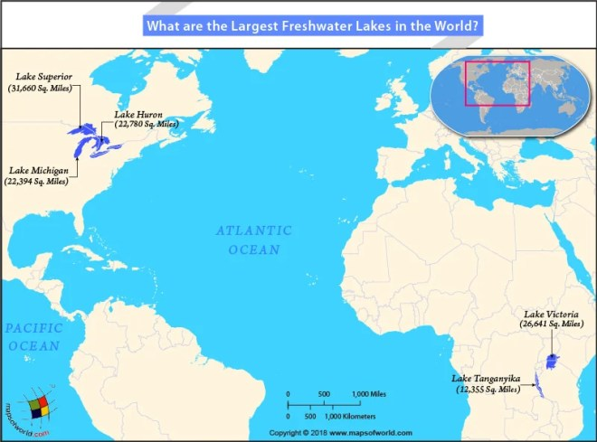 Lakes Of Africa Map.What Are The Largest Freshwater Lakes In The World Answers