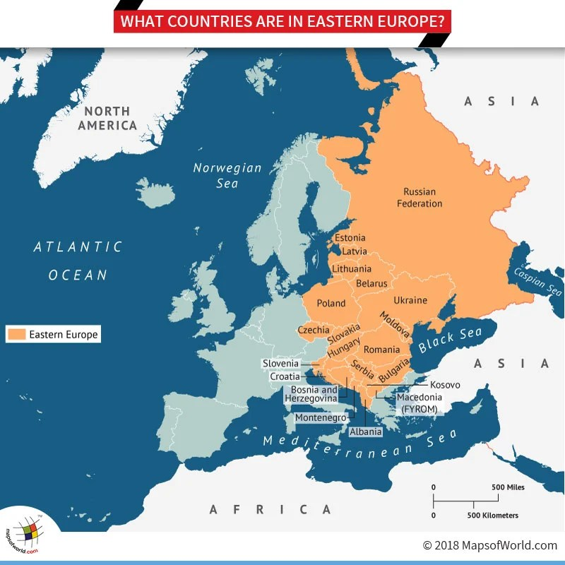 Map of Eastern Europe Countries