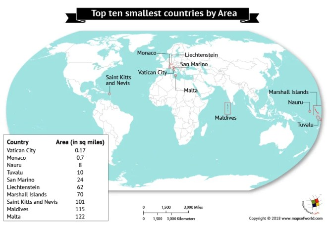 Vatican City On World Map.What Are The Smallest Countries In The World By Area Answers