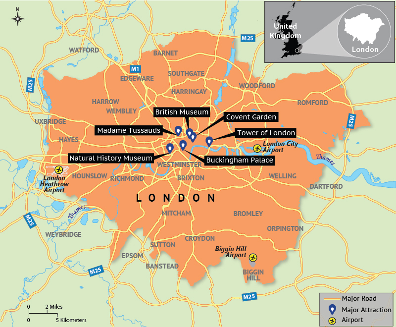 Map Of Attractions London.Map Depicting London Tourist Attractions Answers