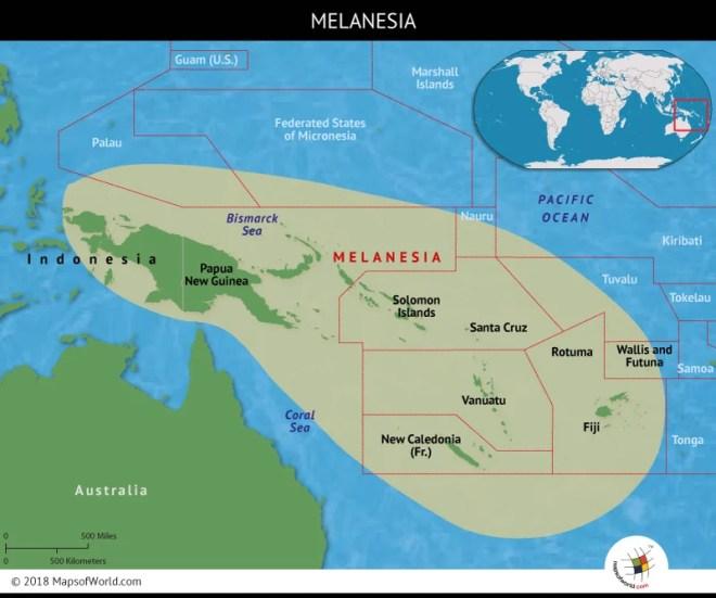 Melanesia comprises 2,000 islands
