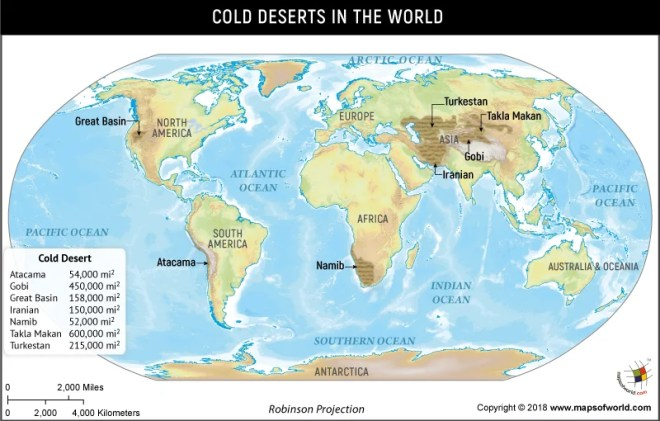Great Sandy Desert World Map.What Are The Cold Deserts Of The World Answers