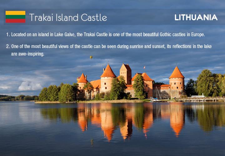 Infographic depicts Trakai Island Castle