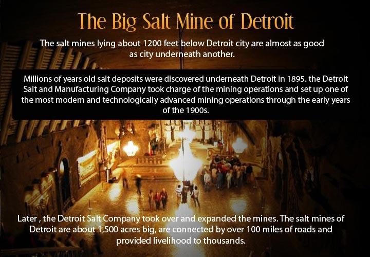 Infographic describing the underground city of Detroit.