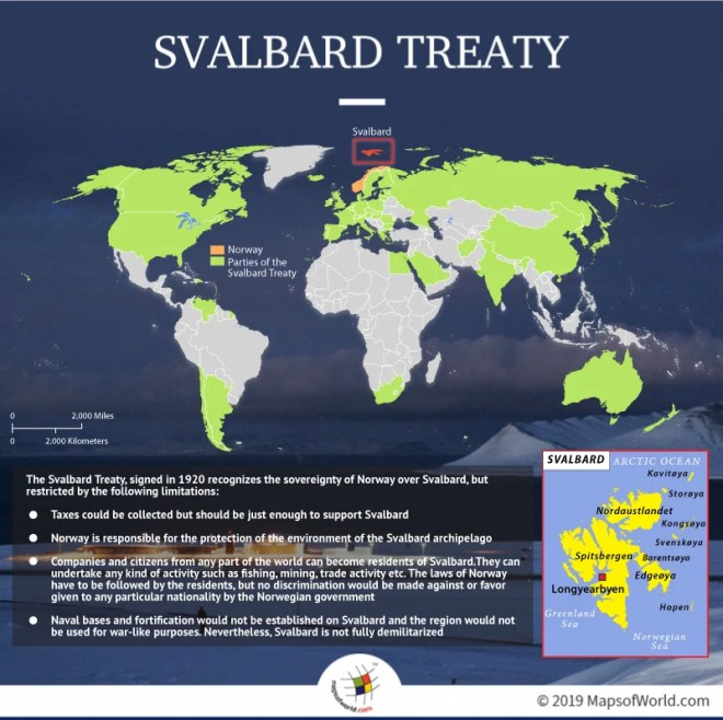 Svalbard Treaty Map
