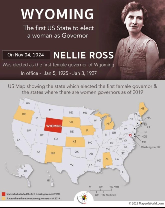 Wyoming was The First US State to Elect a Woman as Governor