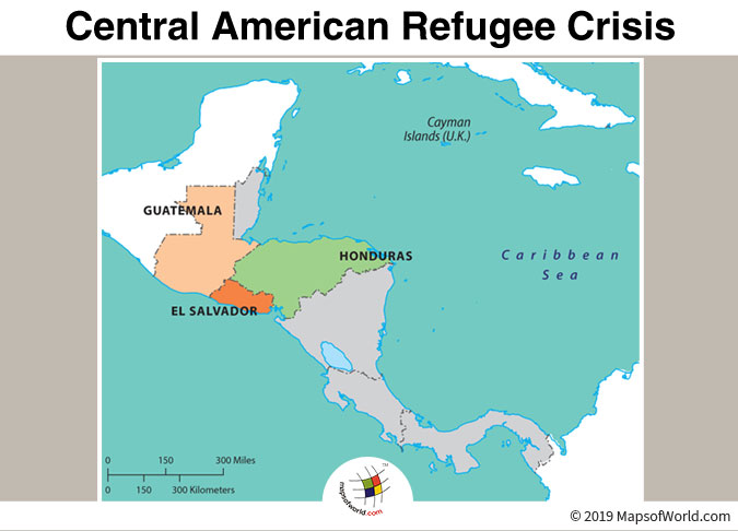 Map Highlighting The Countries Affected by Central American Refugee Crisis