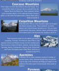 Infographic Giving Details of Major Mountain Ranges of Europe