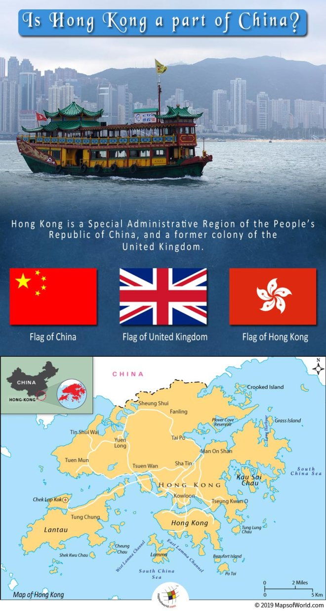 Hong Kong was a colony of the Great Britain for more than 150 years.