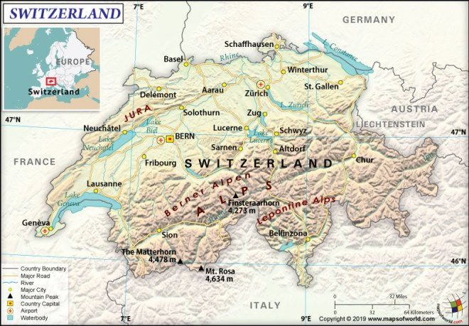 The Official Name of Switzerland is Swiss Confederation