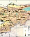 Map of Kyrgyz Republic (Kyrgyzstan)