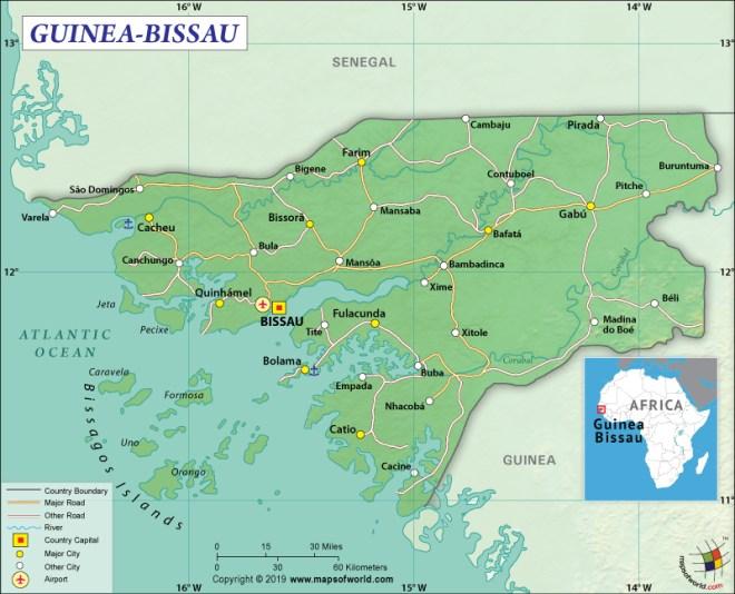 Map of Republic of Guinea-Bissau
