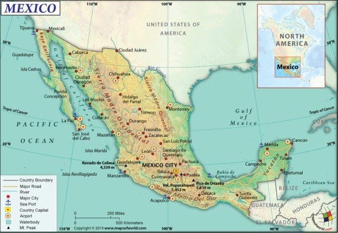 Map of United Mexican States