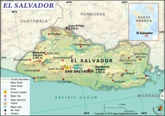 Map of Republic of El Salvador
