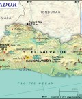 Map of Republic of El Salvador