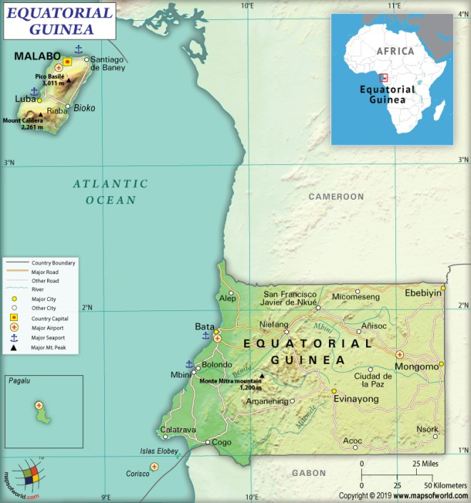 What are the Key Facts of Equatorial Guinea? - Answers Map Of Rio Muni on map of gozo island, map of hainan island, map of symi, map of isle of pines, map of bhutan, map of tahaa, map of gambia, map of togo, map of algeria, map of tristan da cunha, map of reunion, map of singapore, map of banks island, map of mongolia, map of ascension, map of latvia, map of central african republic, map of kalymnos, map of southwest nigeria, map of bahrain,
