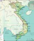 Map of Socialist Republic of Vietnam