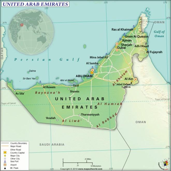 Map of UAE