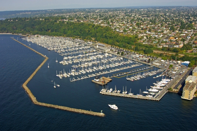 Shilshole Bay Marina In Seattle Washington United States