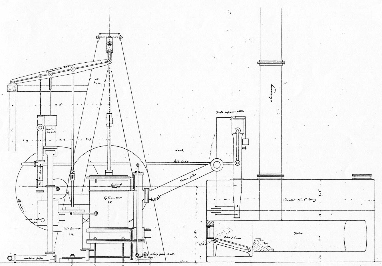 View The Steamboat Frontenac S Engine Drawings Maritime History Of The Great Lakes