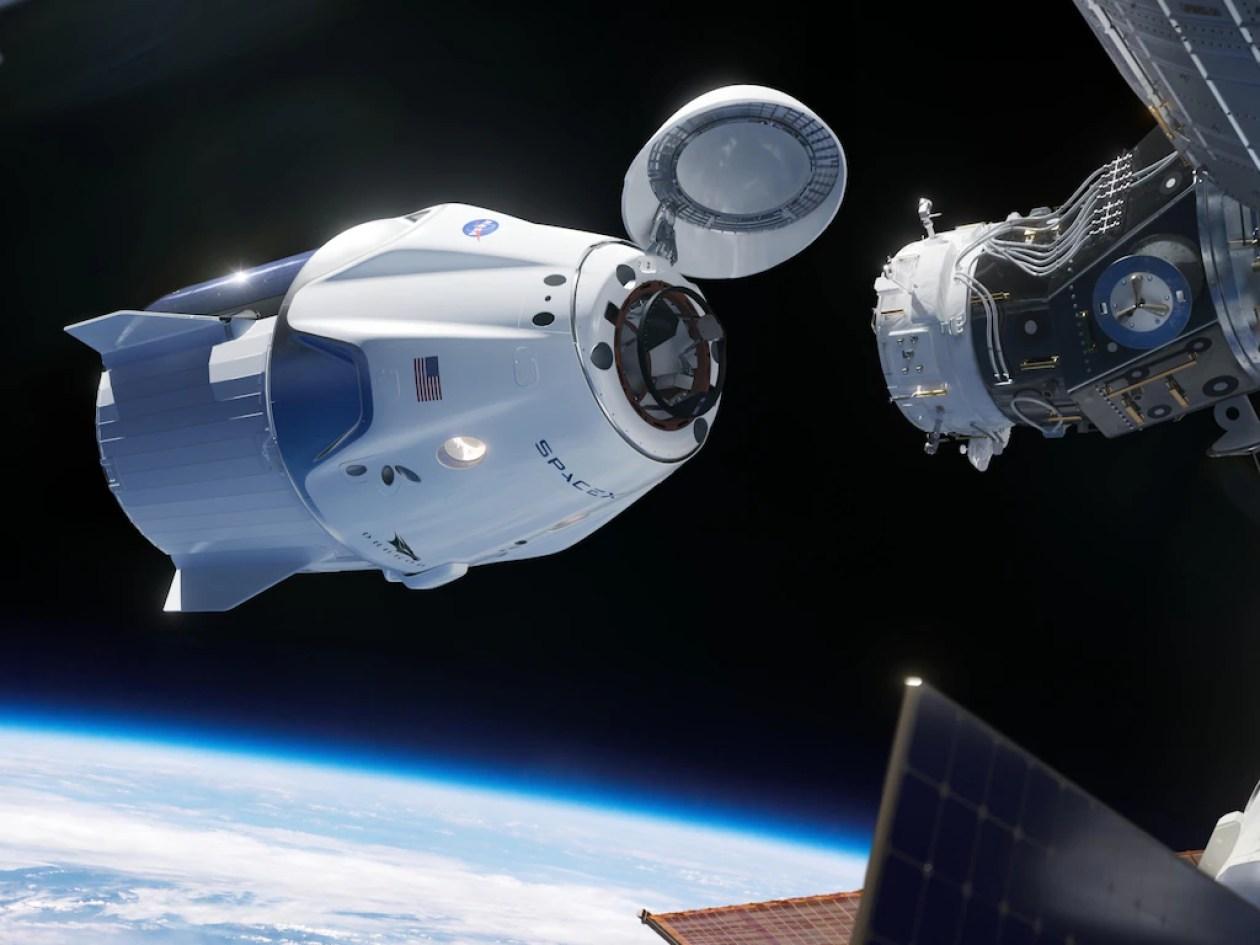 spacex crew dragon v2 spaceship international space station docking approach nasa 130608600 N05_h