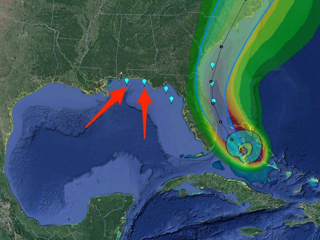 hurricane isaias nhc predicted path wind speed probabilities cone florida spacex demo 2 demo2 landing zones august 1 2020 dave mosher business insider google earth labeled
