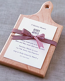 Cutting Board Shower Invitation