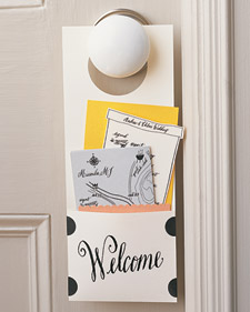 Guest Welcome Door Hanger from Martha Stewart