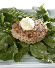 Tuna Burgers with Wasabi Mayonnaise