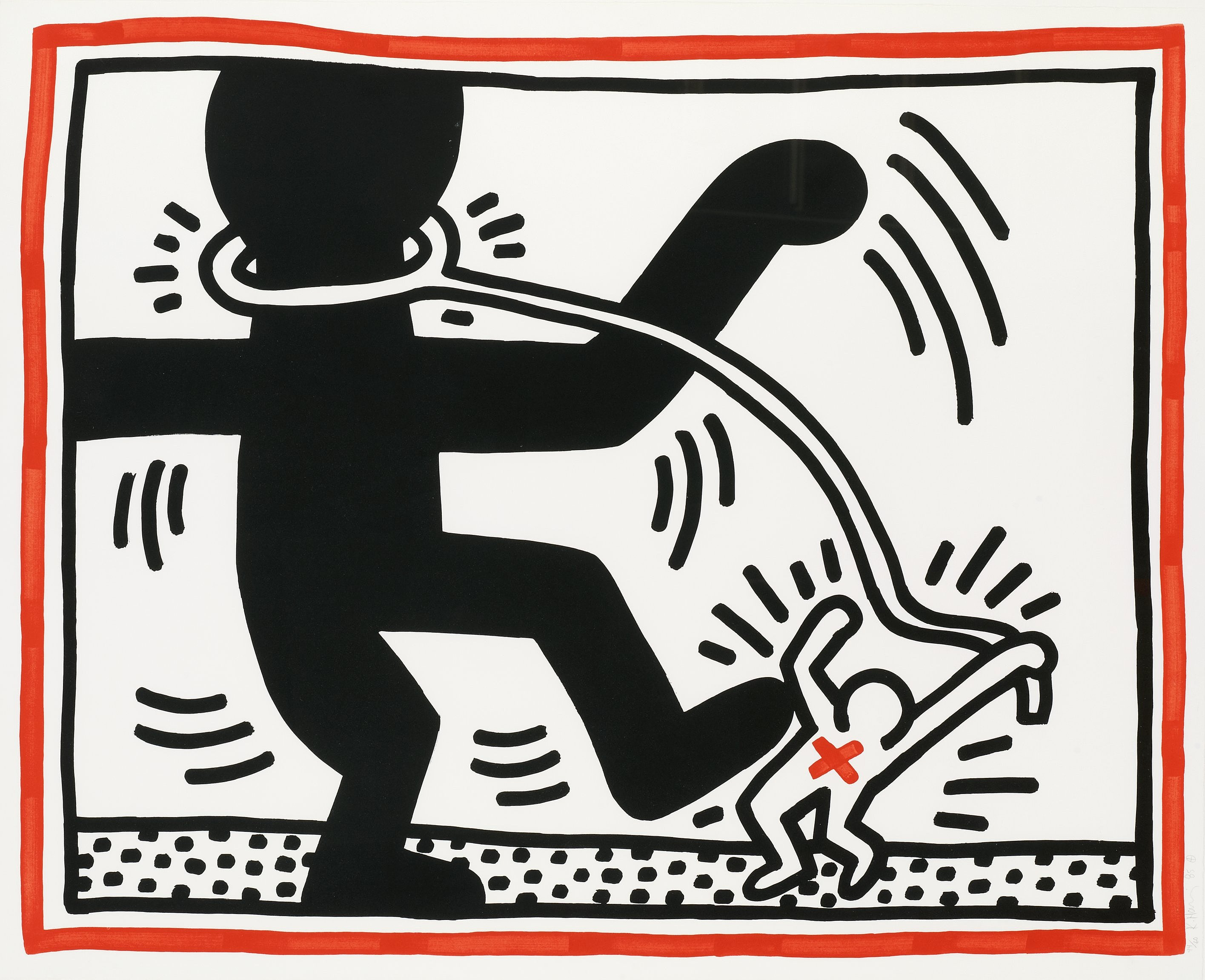 Keith Haring Untitled Plate 2 From Free South Africa
