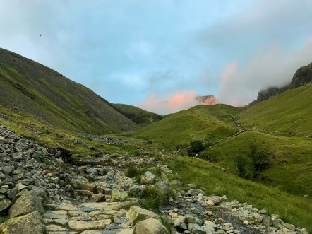 Amazing sunset light on Scafell