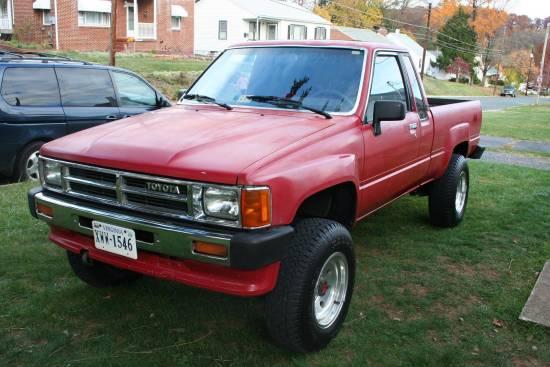 1987 Turbocharged Toyota Pickups Black