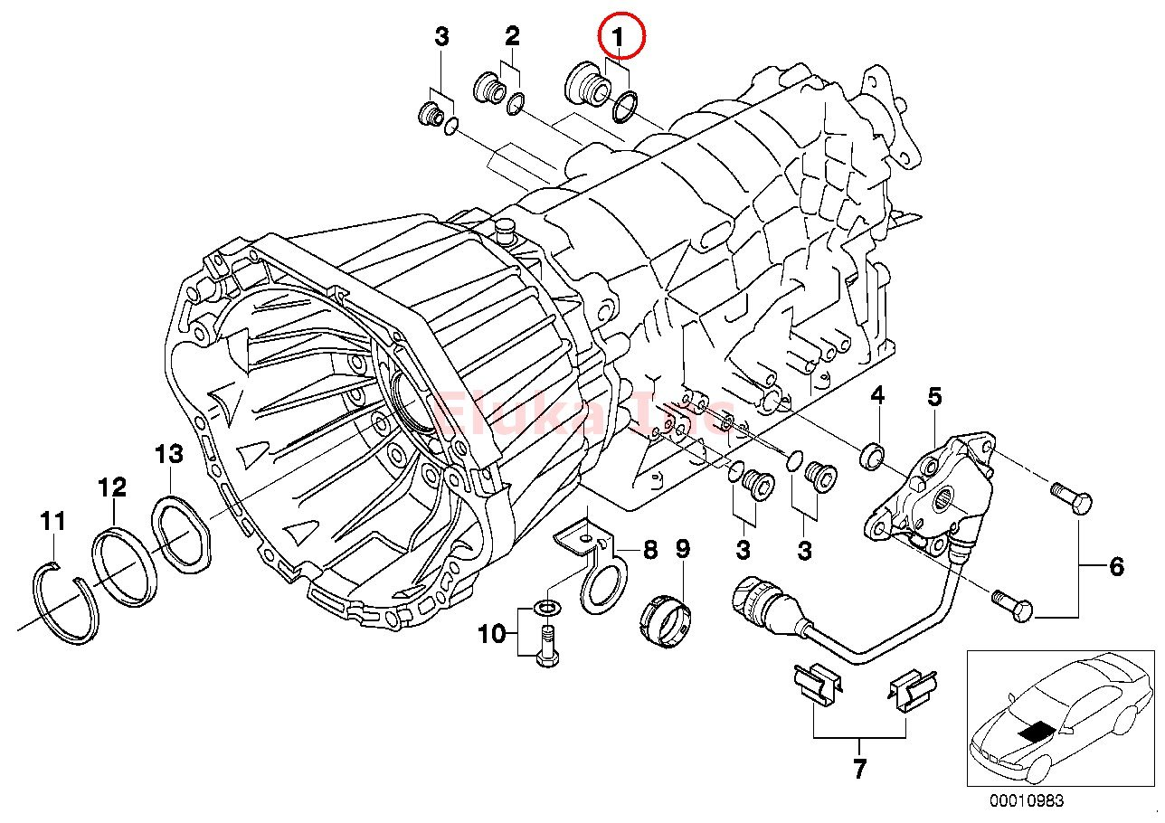 Bmw Transmission Drain Plug With Seal Ring For Automatic