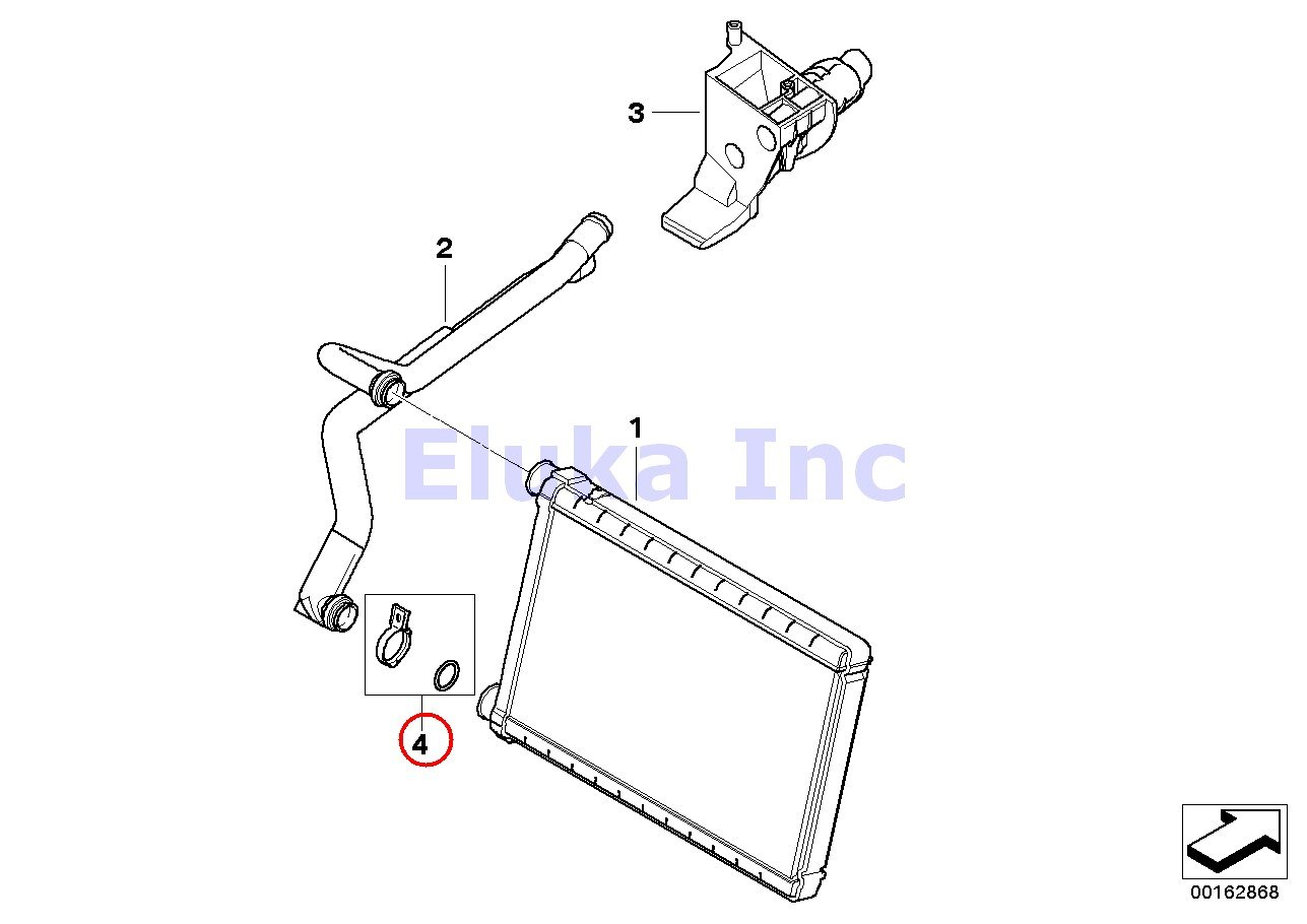 Bmw Radiator Heater Core O Ring Kit 128i 135i M Coupa X1