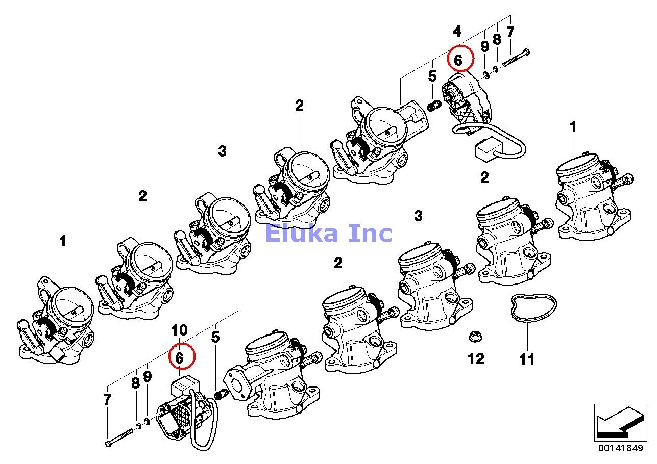 2 X Bmw Genuine Fuel Injection Throttle Housing Assembly