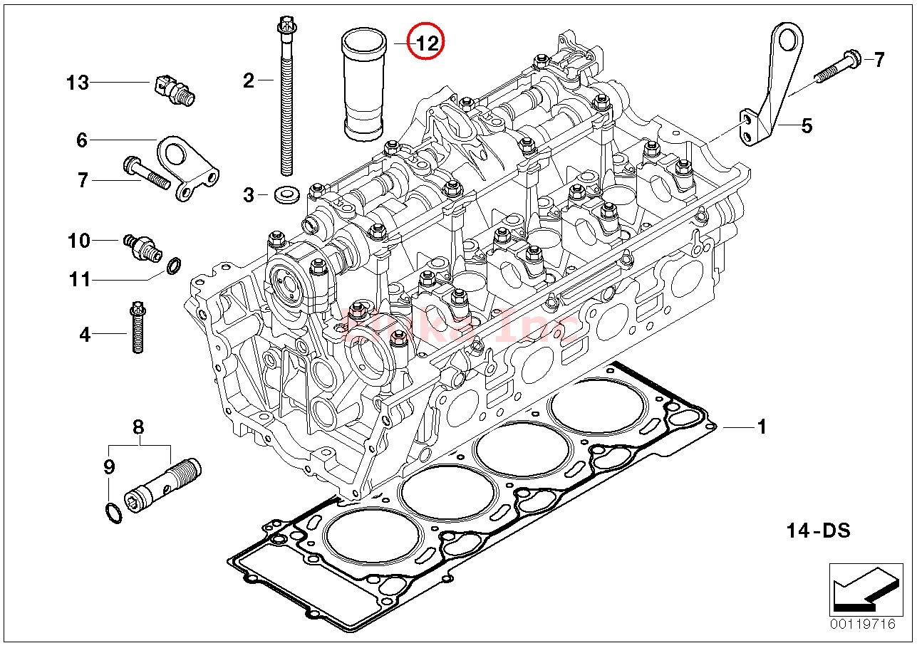 Bmw Engine Cylinder Ignition Spark Plug Tube E53 E60 E60n E63 E63n E64 E64n E65 X5 4 4i X5 4 8is
