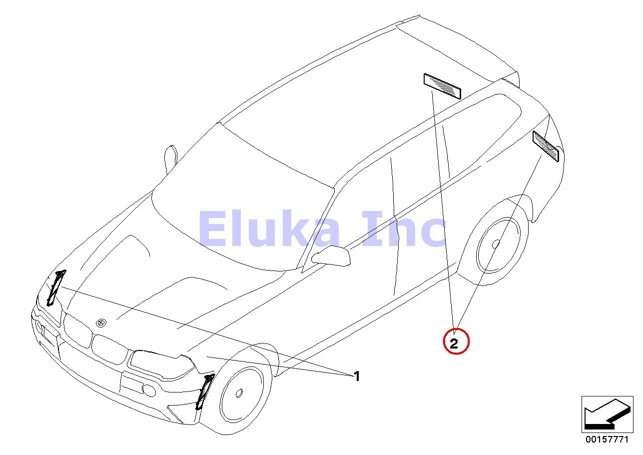 Bmw Genuine Interior Cabin Air Filter For Recirculated Ac