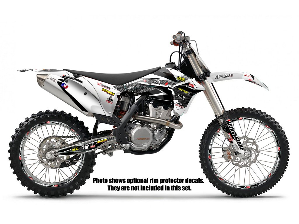 Senge Graphics Ktm Sx 65 Podium White Graphics Kit