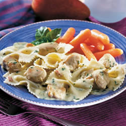 Creamy Pesto Chicken and Bow Ties Recipe