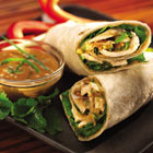 Thai Peanut Butter Chicken Wraps Recipe