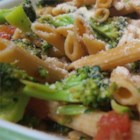 Fusilli with Rapini, Garlic, Tomatoes and White Wine Sauce