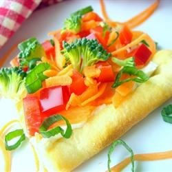 Garden Veggie Pizza Squares Recipe