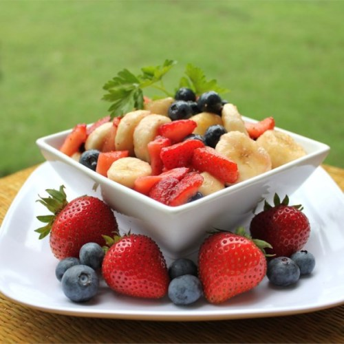 Red, White, and Blueberry Fruit Salad red white and blue salads