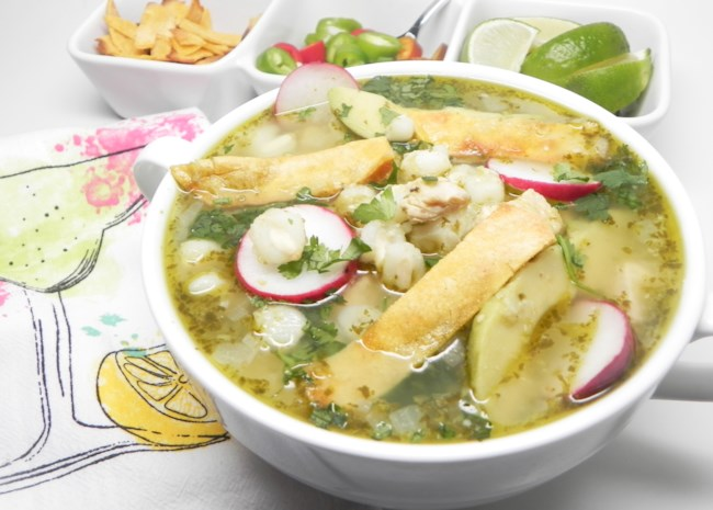 Instant Pot(R) Chicken Posole Verde