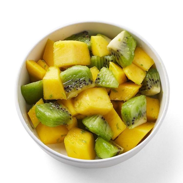 Mango & Kiwi with Fresh Lime Zest