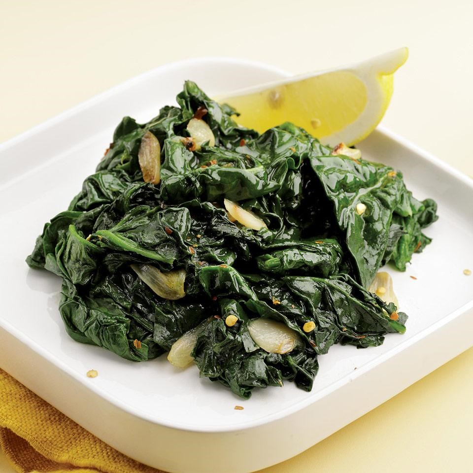 Simple Saut    ed Spinach Recipe   EatingWell Simple Saut    ed Spinach