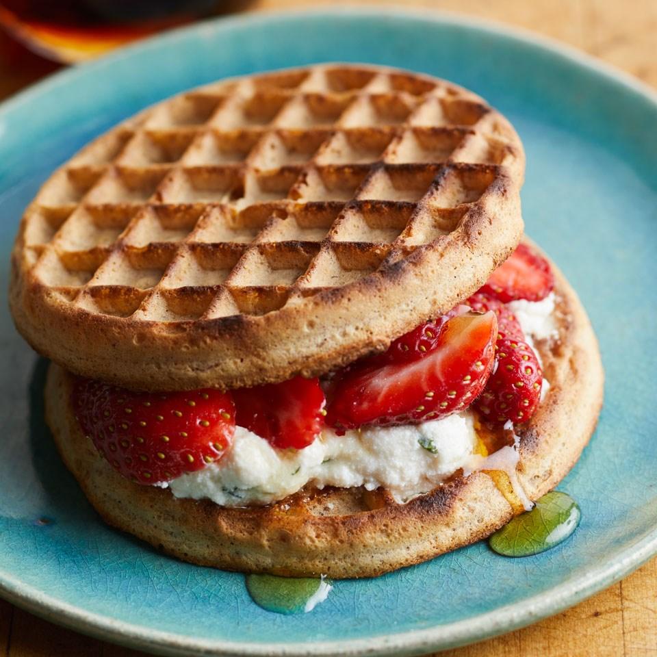 Strawberry-Ricotta Waffle Sandwich