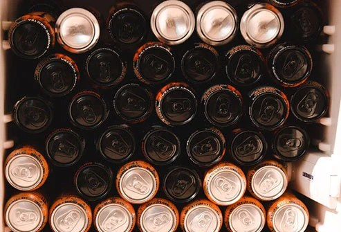 Sugary sports drinks are high in calories and may lead to weight gain around the middle.