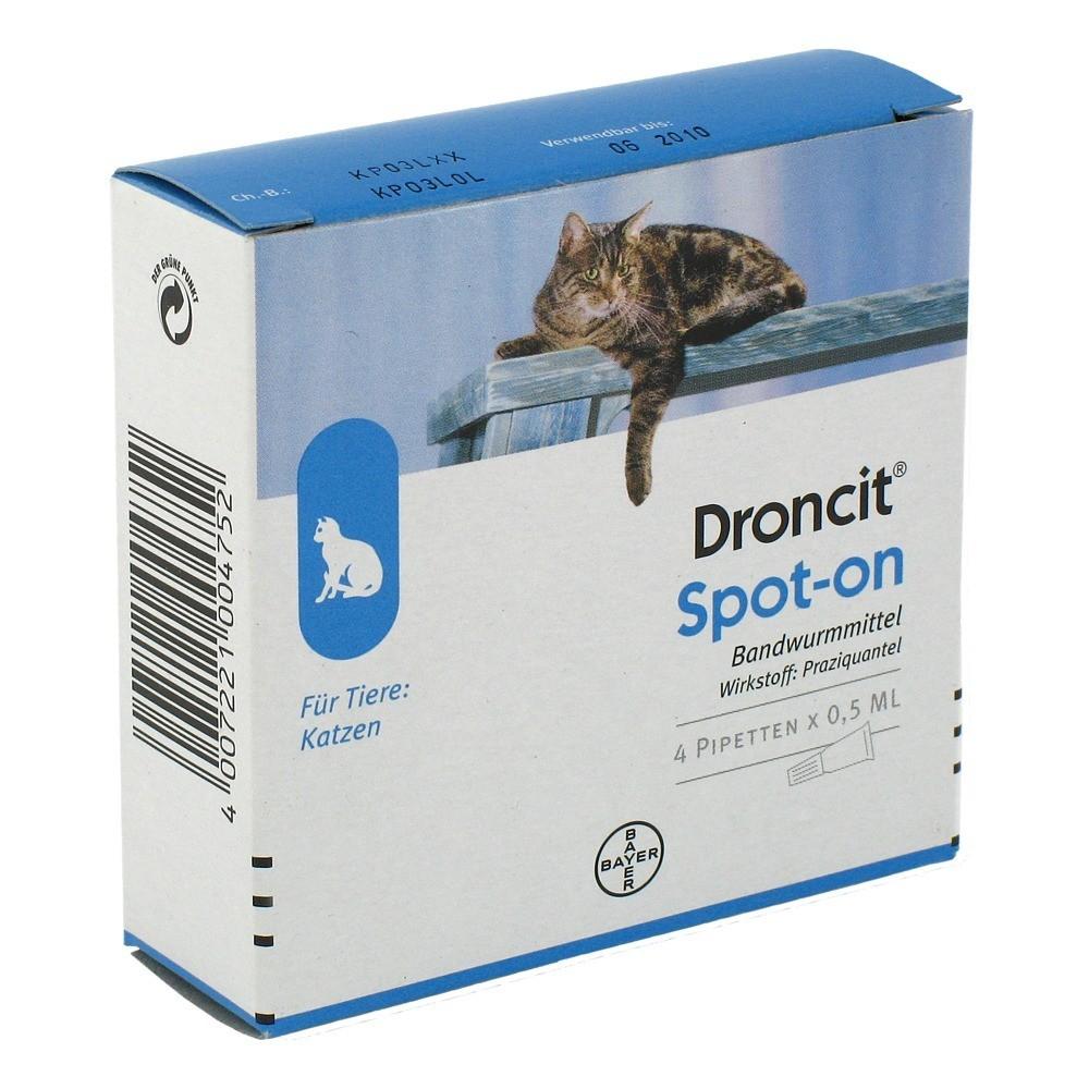 Droncit Spot On Losung Pipetten Fur Katzen 4x0 5 Milliliter Online Bestellen Medpex Versandapotheke